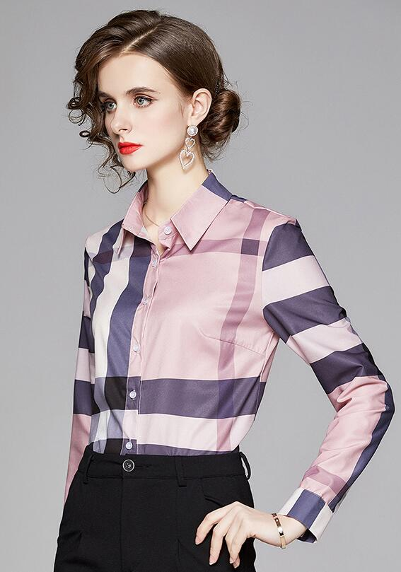 European Style Printing Fashion Nobel Blouse