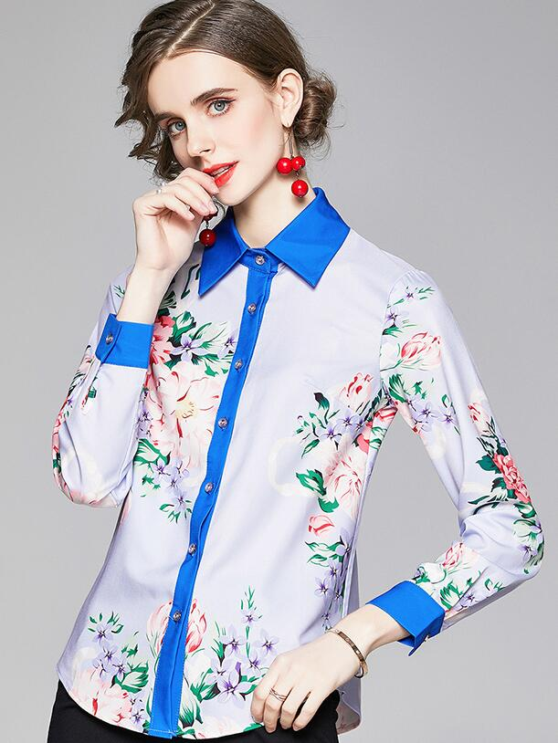 For  Sale Doll   Collars Printing  Show Waist  Blouse