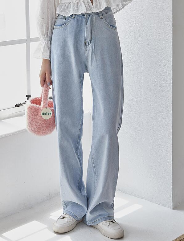 On Sale Pure Color Fashion Denim Pants