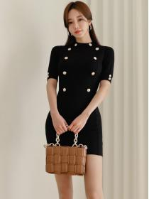 Simple fashion style Sexy Knitted OL Dress