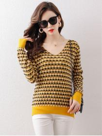 Hot sale Knitted Stripes Pullover