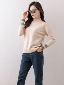 New style Slim Knitted Pullover