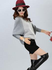 Wholesale Bat sleeve Knitted Sweater
