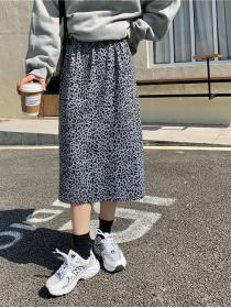 Hot item Leopard pattern Loose-fitting Skirt
