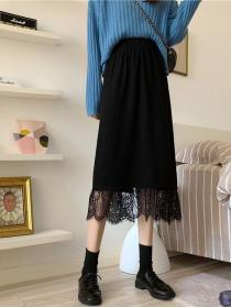 New arrival Lace Sweet Long skirt