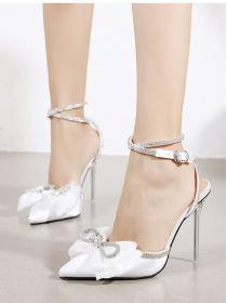 New fashion style Bowknot European style High heels shoes