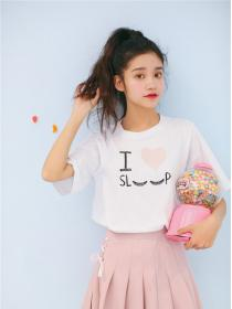 New arrival Embroidery Love Fashion T-shirt