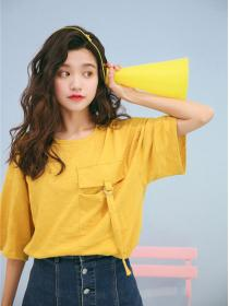 New arrival Loose Fitting Big pocket T-shirt