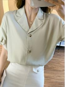 On sale Simple Classic style Light colour OL Blouse