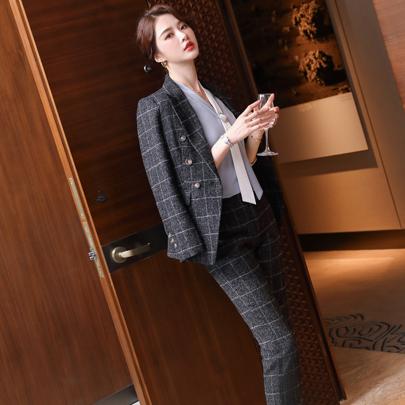 Profession business suit autumn coat 3pcs set for women