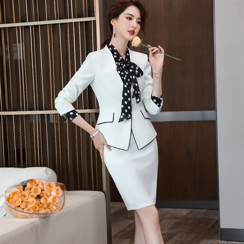Ladies skirt business suit 2pcs set for women