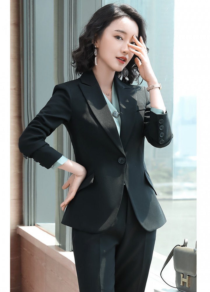 Overalls long sleeve business business suit 3pcs set for women