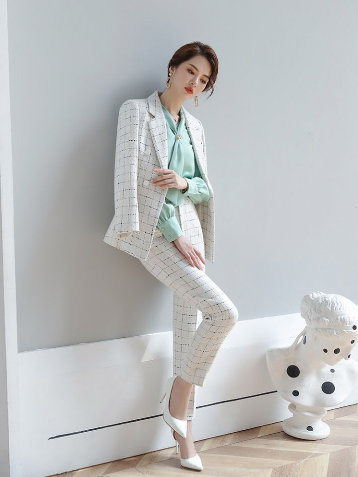 Autumn and winter pants business suit 3pcs set for women